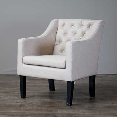 Baxton Studio Brittany Upholstered Button Tufted Modern Club Chair - Overstock