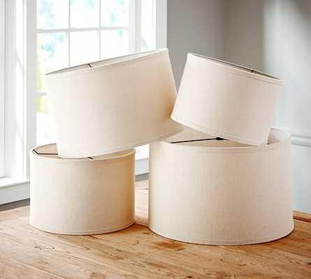 Burlap Straight-Sided Drum Lamp Shade - Pottery Barn