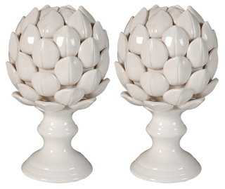 Pair of Artichoke Finials - One Kings Lane
