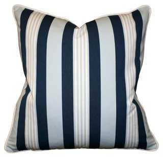Mazarin 22x22 Cotton Pillow, Multi - Feather down insert - One Kings Lane