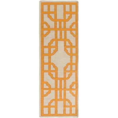 Alameda Beige/Orange Geometric Area Rug - AllModern