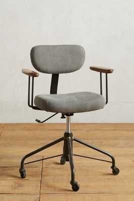 Kalmar Desk Chair - Grey - Anthropologie