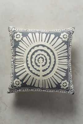 """Full Sun Pillow - Gray - 18''x 18"""" - Microfiber fill - Anthropologie"""
