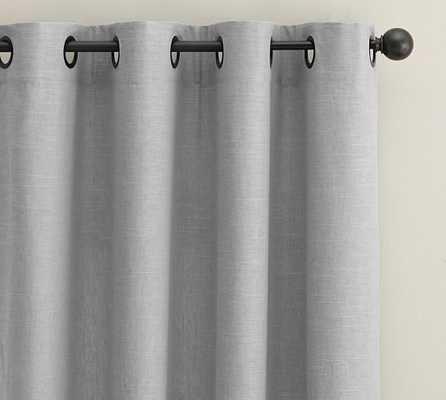 Emery Grommet Drape - Cotton Lining - Gray - 50x96 - Pottery Barn