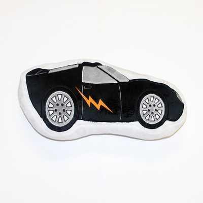 """Teyo's Tires Race Car Decorative Throw Pillow - 6"""" H x 13.5"""" W - Polyfill - Wayfair"""