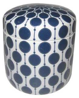 Bonnie Canister, Blue/White - One Kings Lane