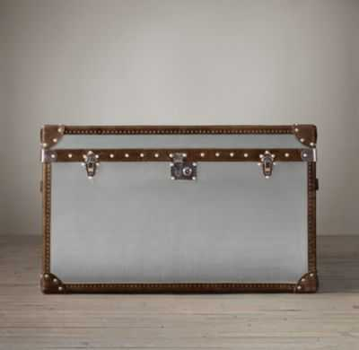 MAYFAIR STEAMER TRUNK TALL COFFEE TABLE - RH
