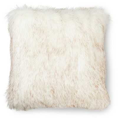 Fur Decorative Pillow - White - 18.000L x 18.000W- Polyester fill insert - Target