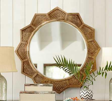 Wood Sun Mirror - Pottery Barn