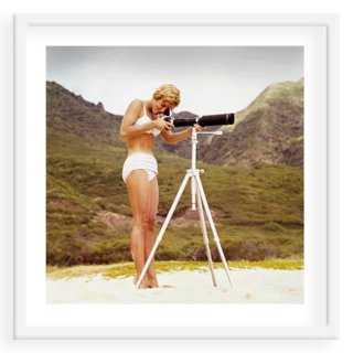 """Tom Kelley, Bikini Girl and Camera- 24"""" x 24""""- Framed - One Kings Lane"""