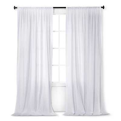 "Dobby Stripe Sheer Curtain Panel-54""x84"" - Target"