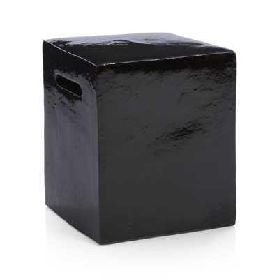 Carilo Black Garden Stool - Crate and Barrel