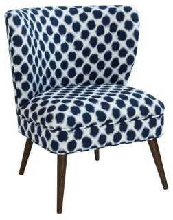 Bailey Accent Chair, Shibori Indigo - One Kings Lane