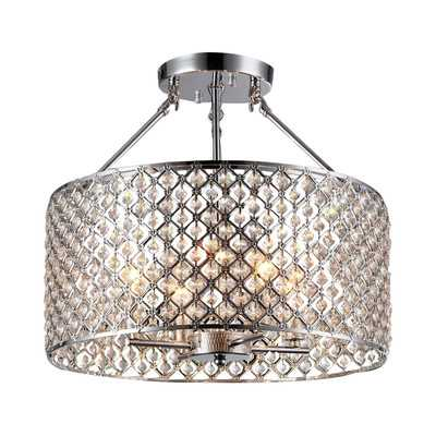 Kirsten 4 Light Semi Flush Mount - Wayfair
