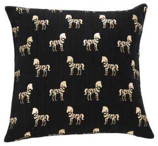 Zaza 18x18 Pillow, Black - One Kings Lane