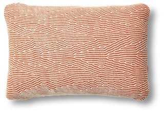 Kimsa 12x16 Pillow, Sienna/Cream- organic cotton poplin/kapok fill insert - One Kings Lane