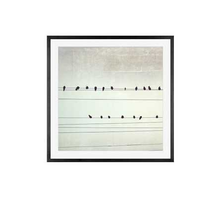"""A Few Notes Framed Print - 25"""" x 25"""" - Black frame - With mat - Pottery Barn"""