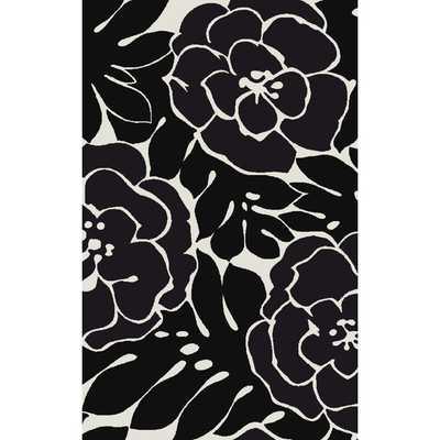 Paddington Beige/Black Floral Area Rug - AllModern
