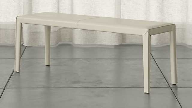 """Folio 52"""" Bonded Leather Bench - Crate and Barrel"""