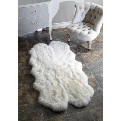 nuLOOM Alexa Quatro Sheepskin Wool Four Pelt Shag Rug - Overstock