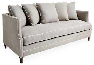 "Dumont 85"" Sofa, Dove/White Linen - One Kings Lane"