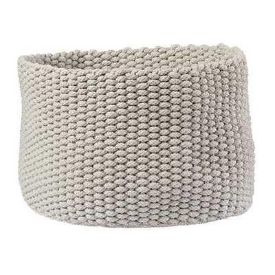 Large Khaki Kneatly Knit Rope Bin - Land of Nod