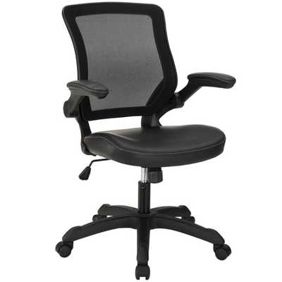 Veer Mid-Back Mesh Office Chair - Black - AllModern