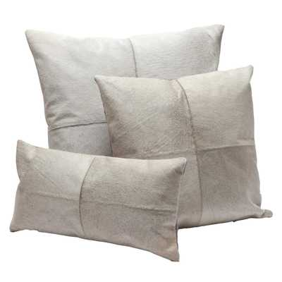"Made Goods Roger Pillow, grey - Large: 24""L x 24""W - With insert - Candelabra"