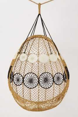 Knotted Melati Hanging Chair - Neutral motif - Anthropologie