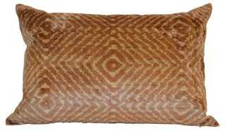 Apache 16x24 Silk-Blend Pillow, Brown - One Kings Lane