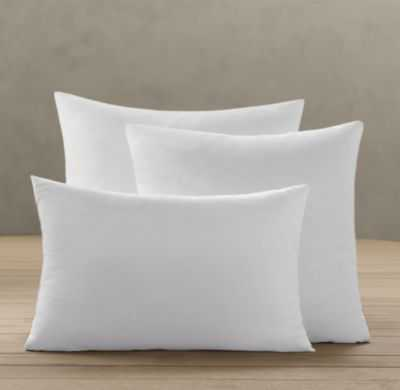 "Premium Down-Alternative Pillow Inserts - 22"" sq. - RH"