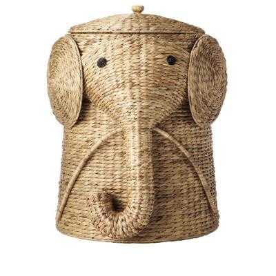 "16""W Animal Laundry Hamper in Natural - Home Depot"