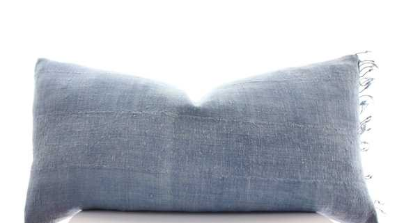 """African Indigo Cloth Pillow Cover - 13""""x25"""" - Insert is not included - Etsy"""