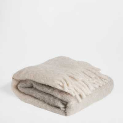 FRINGED MOHAIR BLANKET - Zara Home