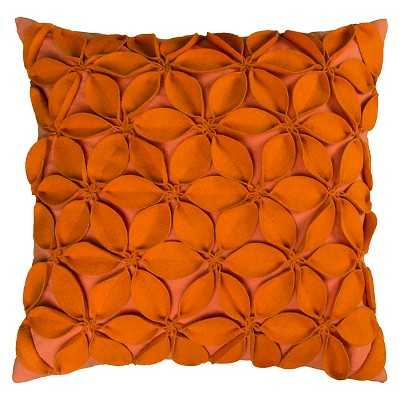 Rizzy Home Leaves Applique Decorative Pillow - Target