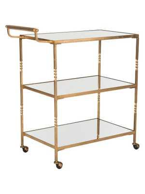 Aurelius Bar Cart-Gold/Mirror Top - gilt.com
