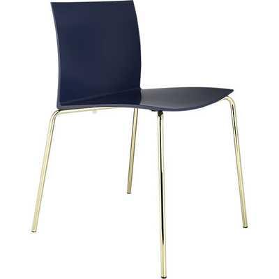 Slim navy chair - CB2