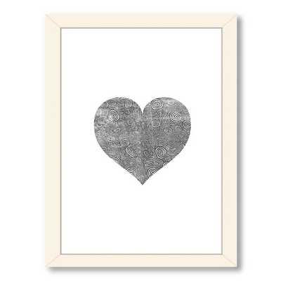 Love Heart Swinging Framed Graphic Art - AllModern