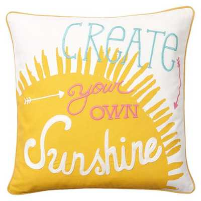 """Coastal Inspiration Pillow Cover 18"""" square/Insert sold separately. - Pottery Barn Teen"""