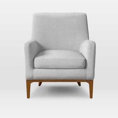 Sloan Upholstered Chair - Yarn Dyed Linen Weave, Ice - West Elm
