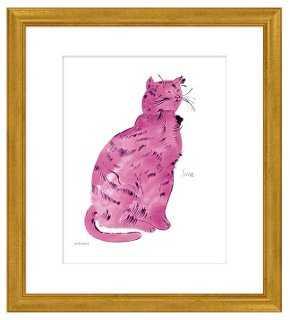 Andy Warhol, Warhol Cat, Pink - One Kings Lane