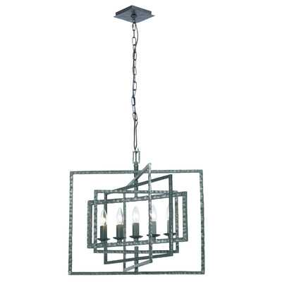 Capri 5 Light Candle Chandelier - Gray - Wayfair