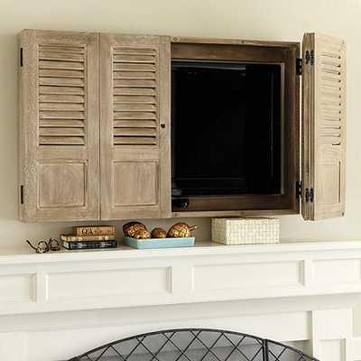 Shutter TV Wall Cabinet - Ballard Designs