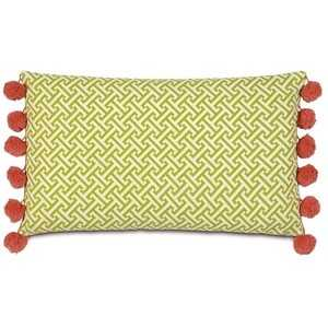 """Epic Splash Chive Sparrow Bolster 22 """" L X 13 """" W Pillow - with insert - Domino"""