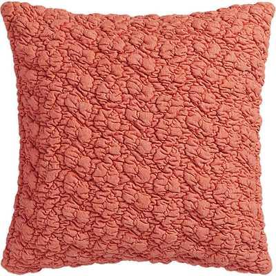 "Gravel red-orange 18"" pillow with down-alternative insert - CB2"