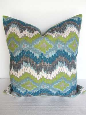 PILLOW COVER Decorative Throw Pillows - 24x24- Blue, navy- Insert Sold Separately - Etsy