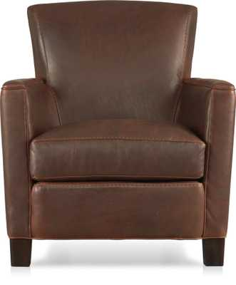 Briarwood Leather Chair - Crate and Barrel