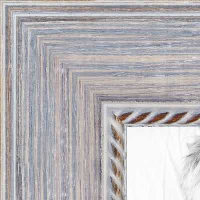 Distressed White frame - arttoframe.com
