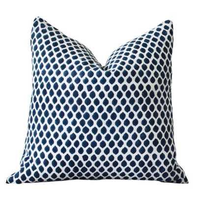 Blue White Ikat Indigo Designer Pillow - Etsy