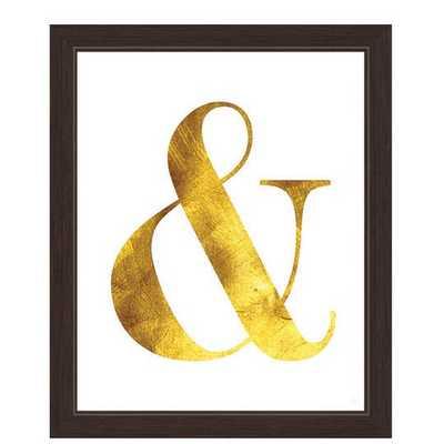 """Ampersand Framed Textual Art - 27"""" x 23"""" - framed - AllModern"""
